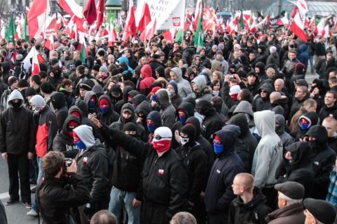 Polscy Faszyści na Marszu Niepodległości